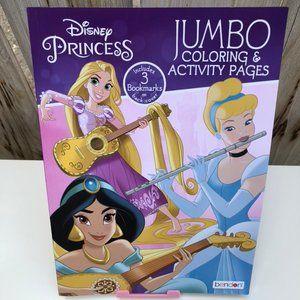 Pink Disney Princess Coloring & Activity Kid Book